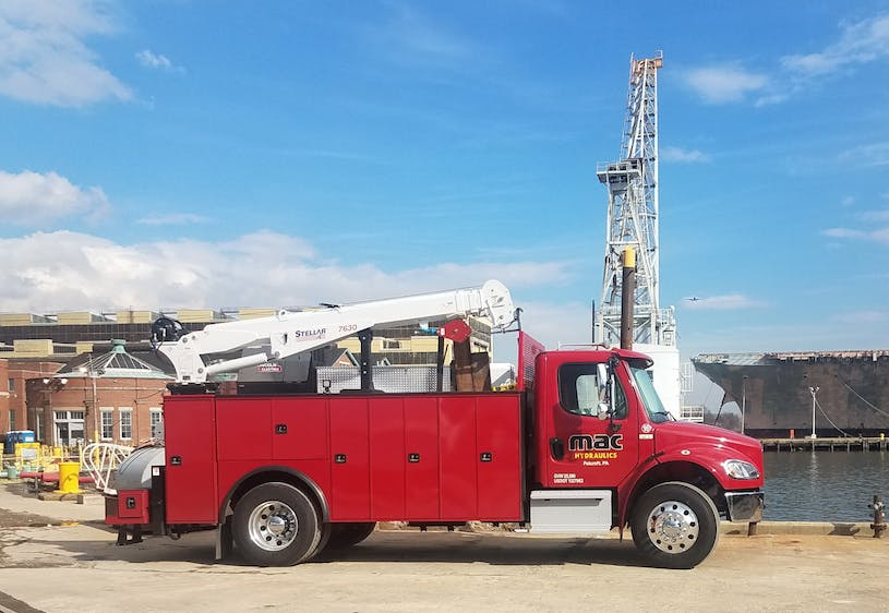 mobile onsite service for hydraulic systems