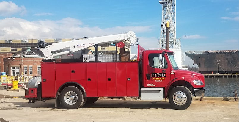 mobile truck for on-site hydraulic repair