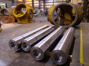 hydraulic cylinder side loading
